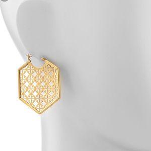 Brand new Tory Burch logo earrings